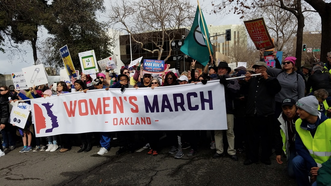 Effective Progressive blog tells how to make a difference. Photo of Women's March, Oakland, Jan. 21, 2017.