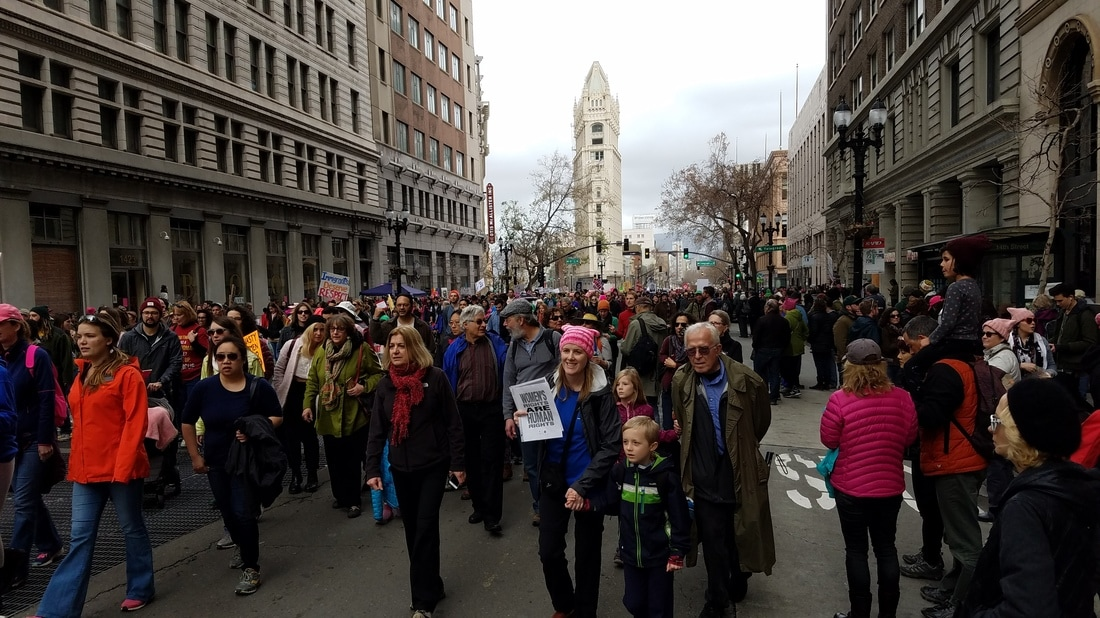 Photo of Oakland Women's March illustrating the Effective Progressive blog.
